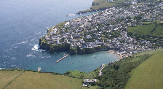 Port Isaac arial